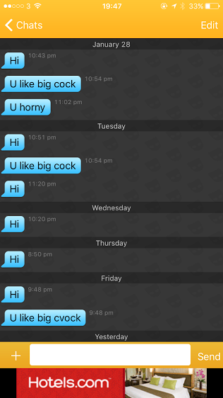 Messages like this aren't uncommon on Grindr, aren't they great!